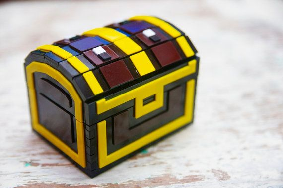 Pixel Chest Zelda Acrylic Plastic Box For Jewelry By Nastalgame 28 00 Chests Diy Acrylic Plastic Etsy
