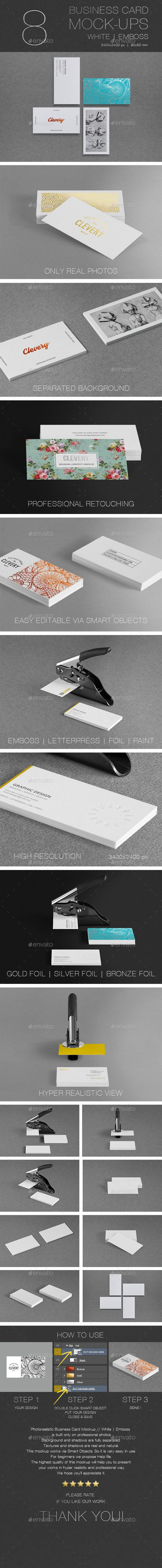 Photorealistic business card mockup white emboss mock up photorealistic business card mockup white emboss photoshop psd clevery logo available here colourmoves