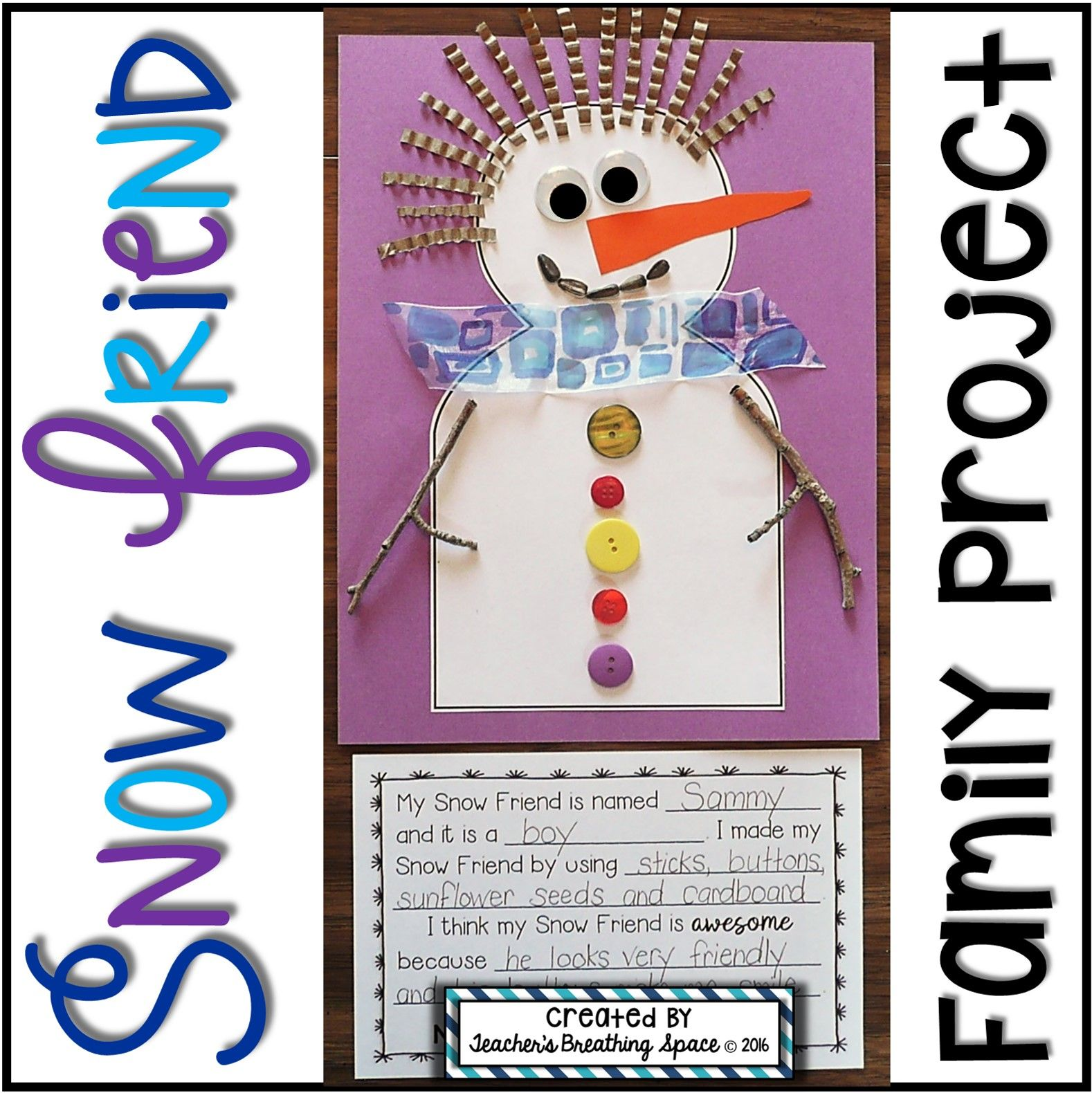 Snowman Family Project Snowman Craftivity Based On Snowballs By