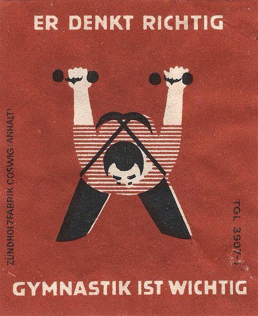 Gymnastik Vintage Werbung Alte Werbung Illustration