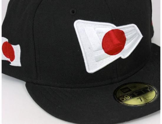 Japan National Flag Logo 59Fifty Fitted Baseball Cap by NEW ERA  d23b9636239