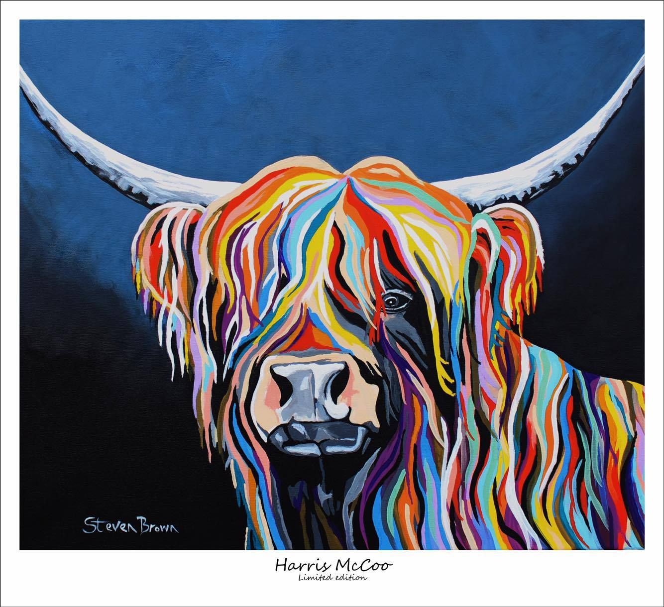 Steven Brown Art The Home Of The Mccoo S Highland Cow Art Highland Cow Painting Cow Art