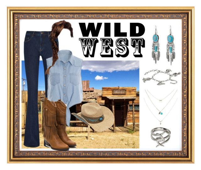 """""""Wild West"""" by marimrdth ❤ liked on Polyvore featuring Victoria, Victoria Beckham, Boardwalk Style, M&F Western and wildwest"""