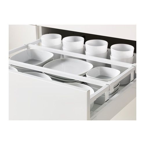 Metod / Maximera Élément Bas Rangement Coulissant - Blanc, 60X60 Cm