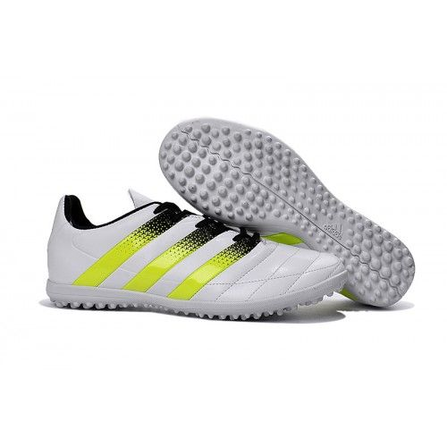 adidas ace 16.3 tf mens football boot white yellow black