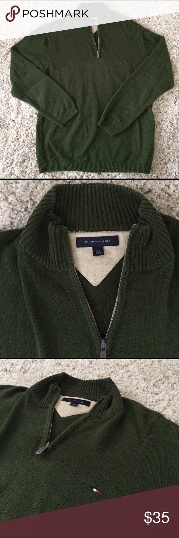 Tommy Hilfiger BNWOT 1/4 zip sweater Brand new men's 1/4 zip sweater. Great condition! Tommy Hilfiger Sweaters Zip Up