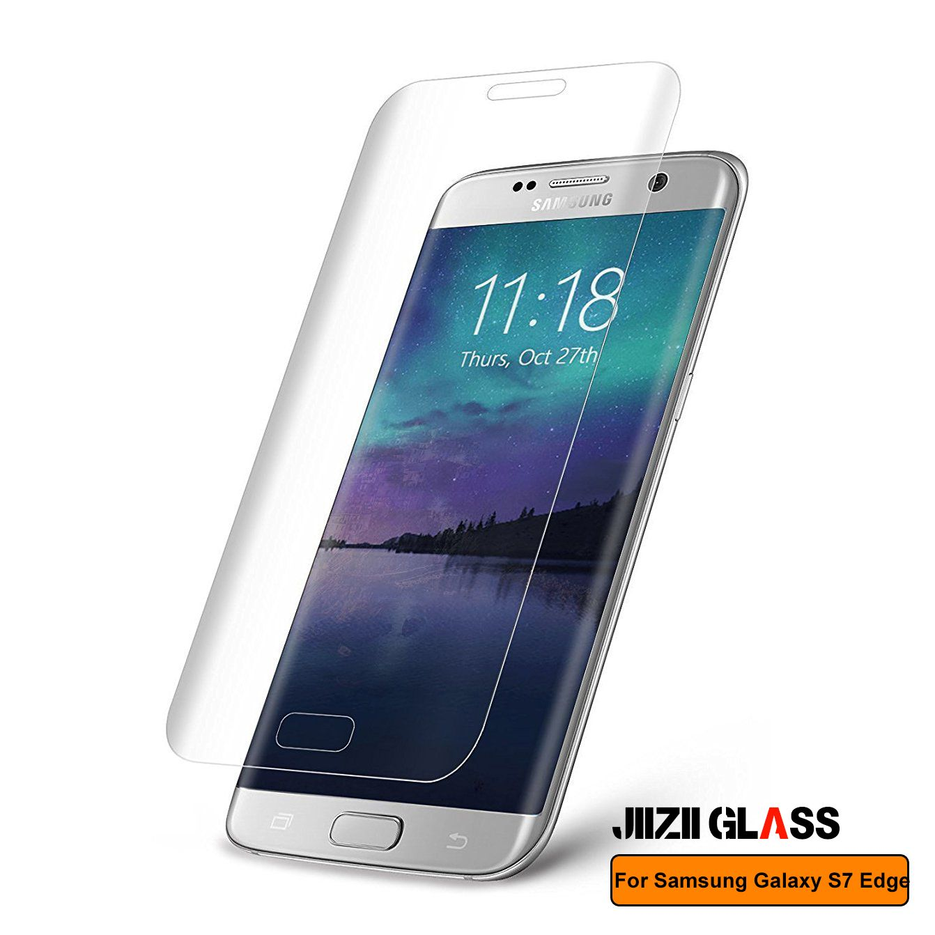2 Packs Galaxy S6 Edge Tempered Glass Screen Protector Tempered Glass Clear Screen Protector Scratch-Resistant Screen Guard for Samsung Galaxy S6 Edge G925 White