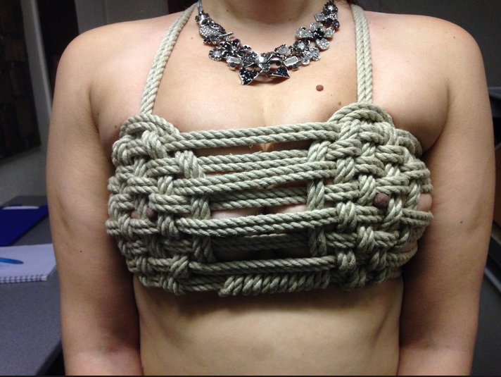 bra Erotic rope