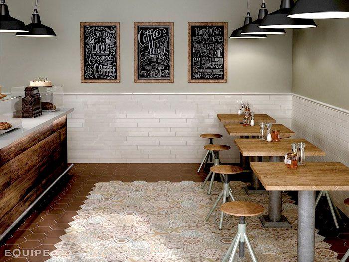 Hexagonal floor tiles by equipe ceramica hexatile