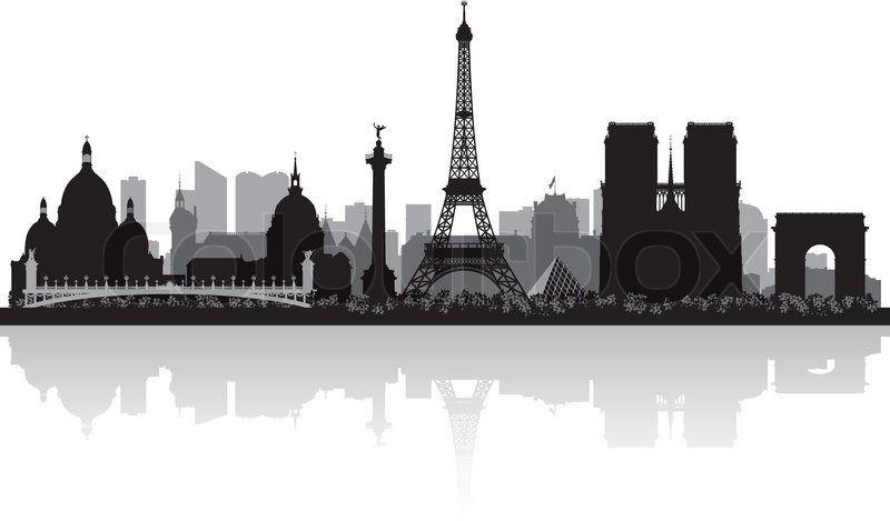 london skyline silhouette stock vektor von 39 paris frankreich skyline silhouette 39. Black Bedroom Furniture Sets. Home Design Ideas