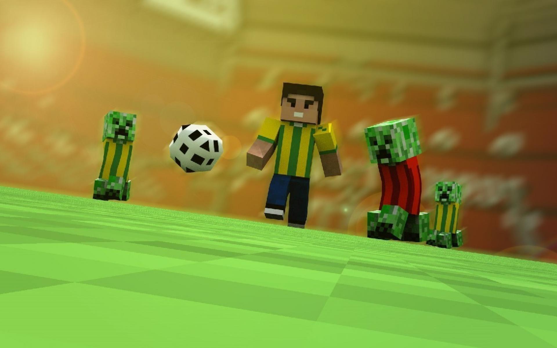 Minecraft, Wallpapers, Creeper, Soccer, Wallpaper
