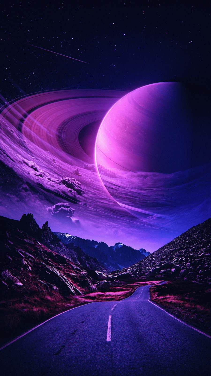 Road to Planet Saturn - iPhone Wallpapers
