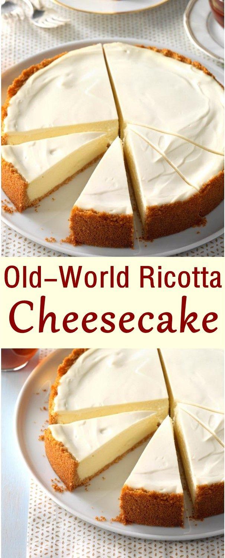Old-World Ricotta Cheesecake #cheesecakes