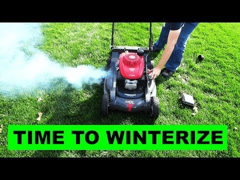 How To Winterize Your Lawn Mower YouTube Outside Lawn