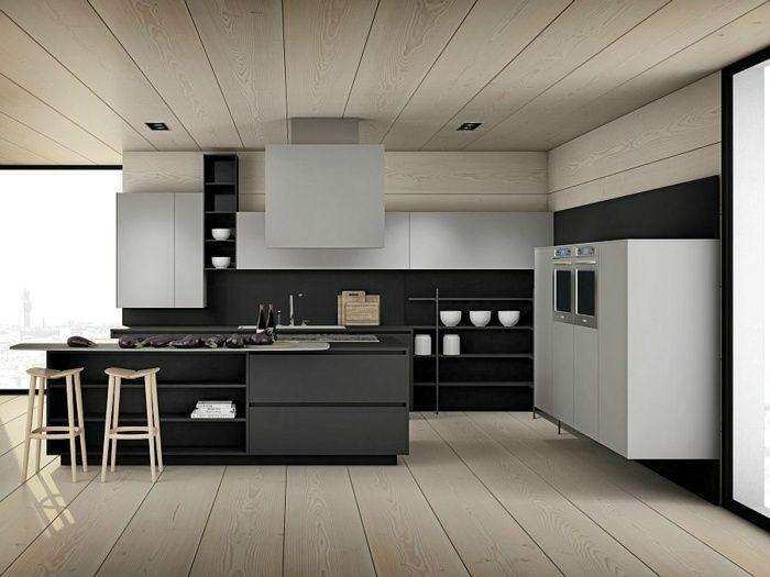 Moderne Küchen Mit Insel Schwarz | arkhia.com | {Moderne küchen mit kochinsel grundriss 29}