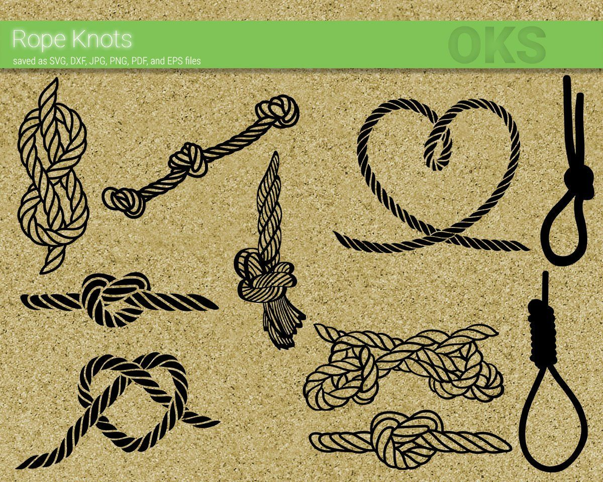 Png Rope Knot Clipart Rope Knot Cut Files Eps Rope Knot #2 Svg Rope Knot Svg Pdf Dxf Rope Knot Files For Cricut Nautical Svg