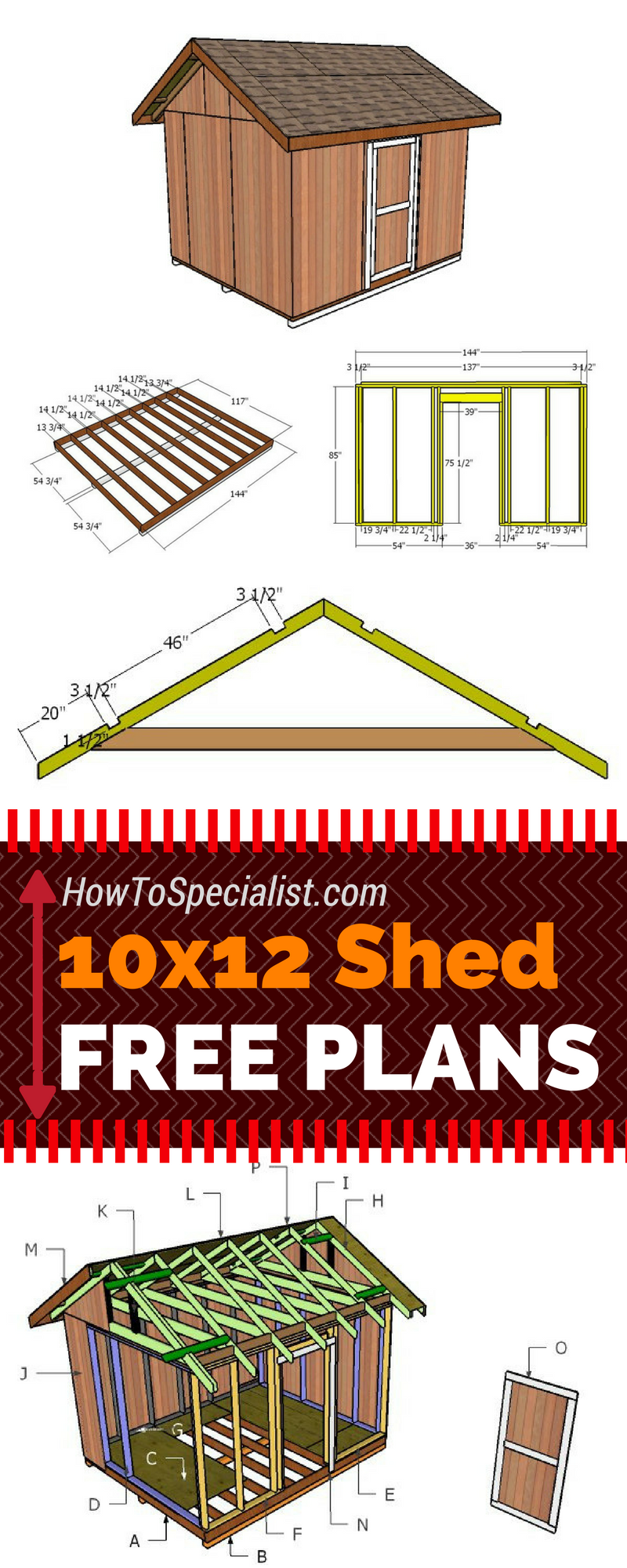 Learn How To Build A 10x12 Shed With My Free And Step By Step Plans! Just  Follow The Free 10x12 Shed Plans If You Want To Build A Garden Storage Shed  With ...