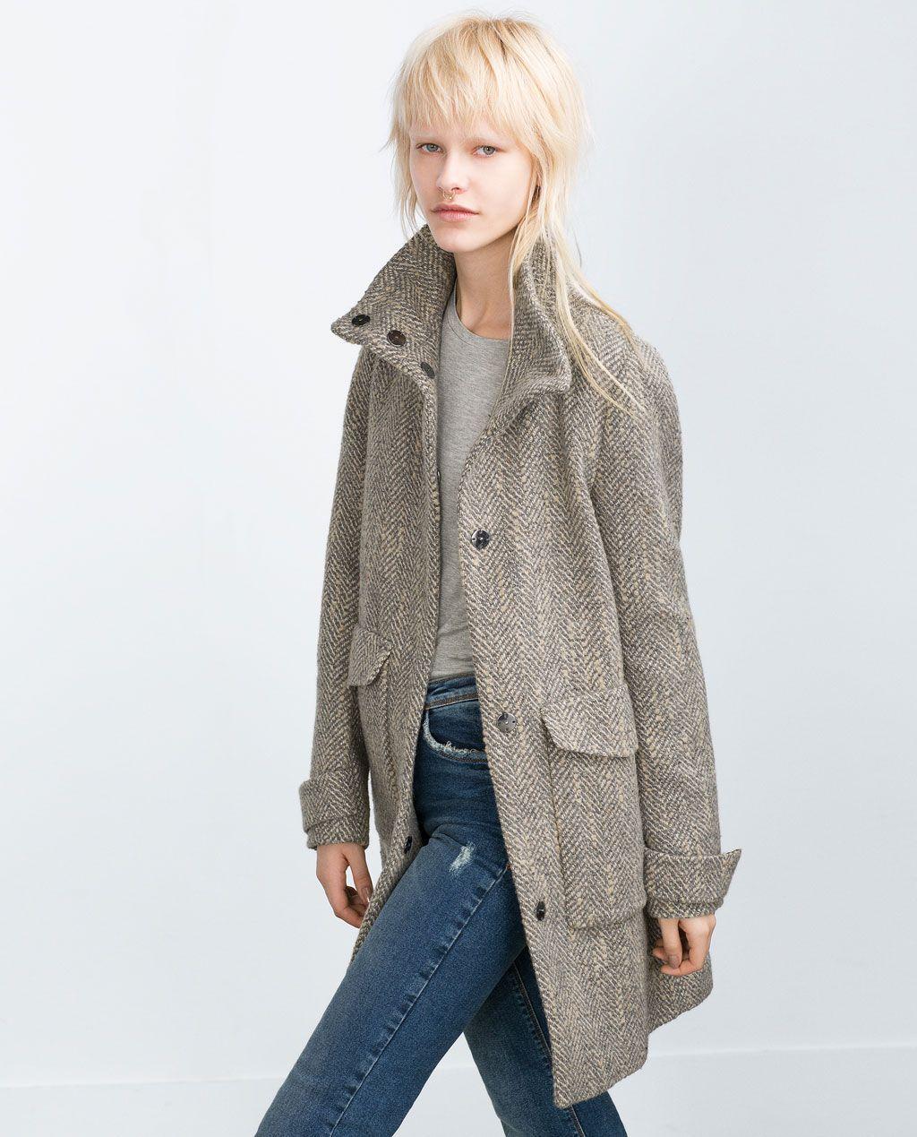 50d8a1b2 HERRINGBONE COAT-View all-Outerwear-WOMAN-SALE | ZARA United States ...