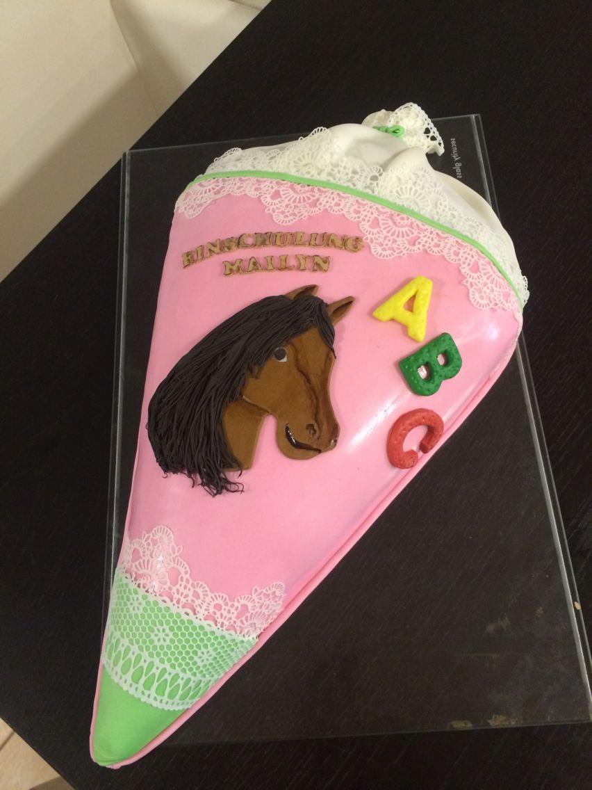 Einschulung Torte Mit Pferd Cake Horse Torte Einschulung Kuchen Einschulung Pferd Torte