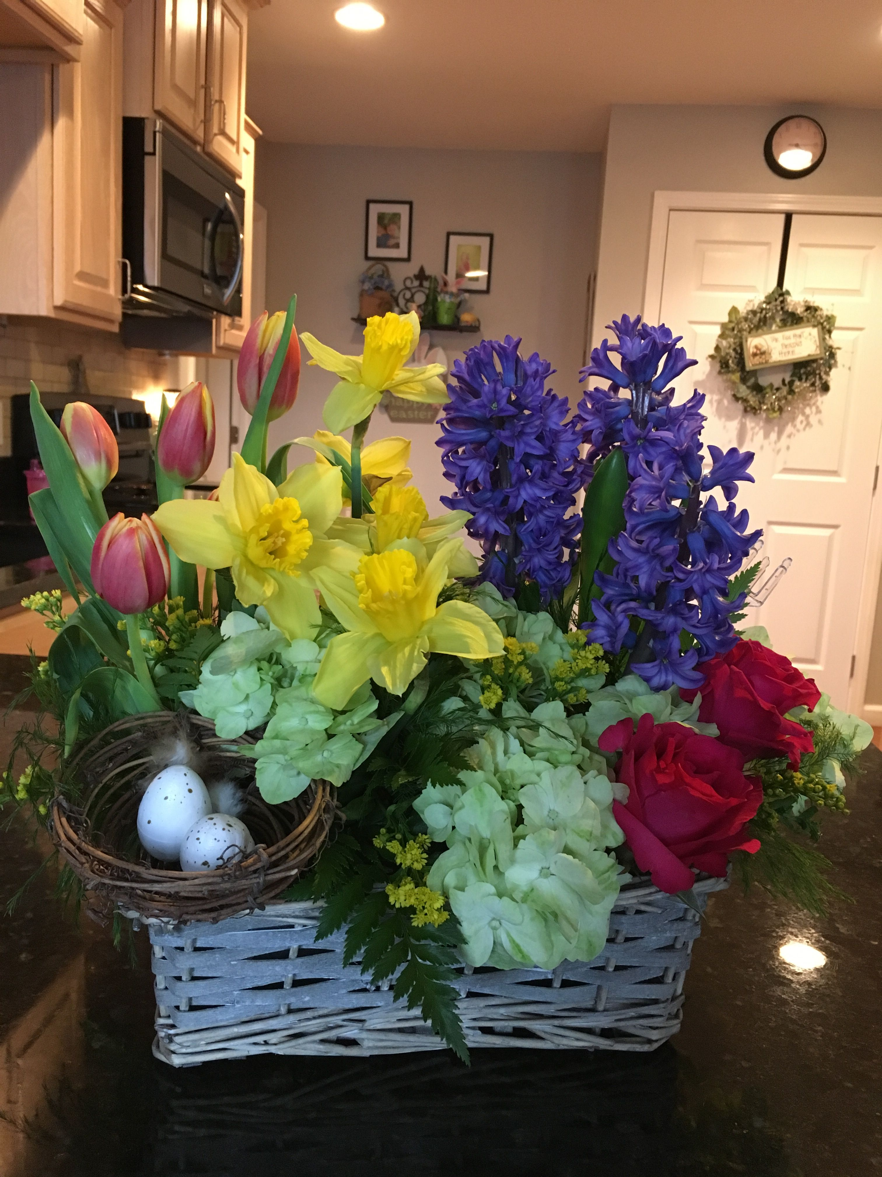 Beautiful Flower Arrangement Received From A Beautiful Friend