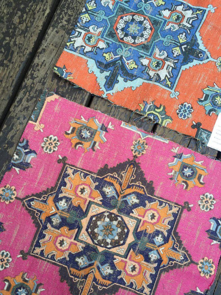 Clarke & Clarke malatya azalea fabric