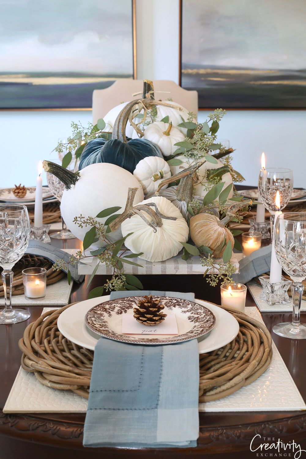 Fall Tabletop Top Decor Ideas Falltable Tabledecor Falltablescape Falldecorating