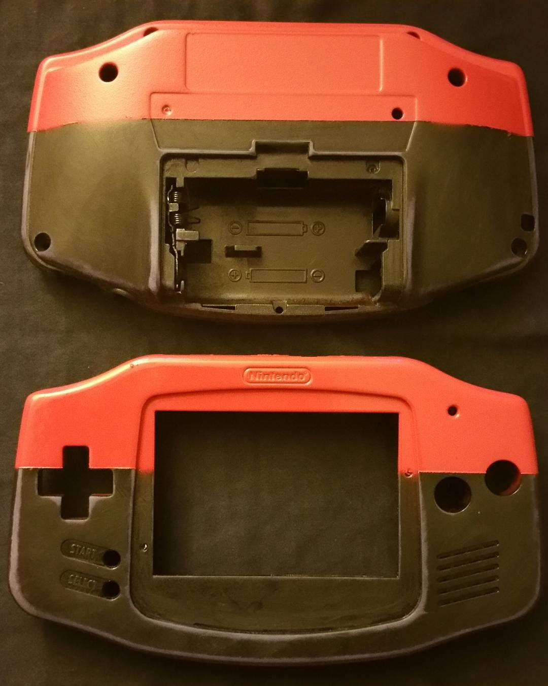 retrogamecustoms: Sanded down the shell and got my first custom on its way! Feels super smooth too. Can anyone guess what it will be? :) #retrogaming #nintendo #gameboyadvance #gaming #retrogamecustoms #customconsole #gameboy #gameboycolor #videogames #gameboy #microobbit