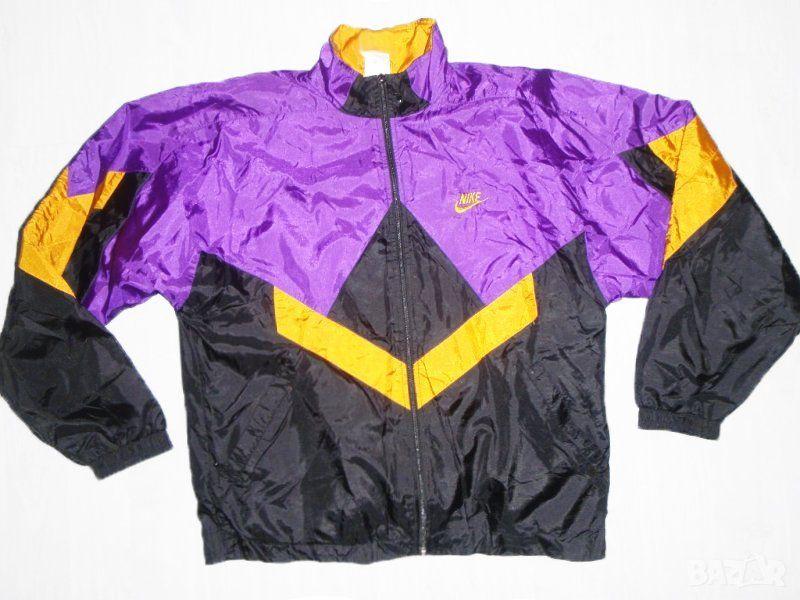 Rare Vintage 90s Nike Windbreaker Jacket Color Blocking Purple Gold Black Size S Nike Windbreaker Jacket Nike Windbreaker Vintage Jacket