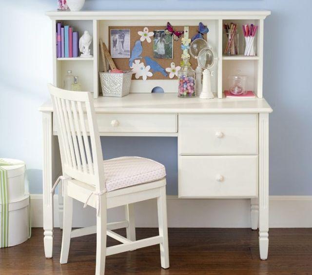 Superb Schreibtisch Kinderzimmer wei Stuhl Regale M dchenzimmer verspielt