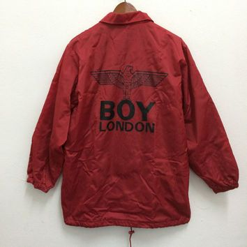 Vintage BOY LONDON Windbreaker Coach Jacket Trench Coat Fashion ...
