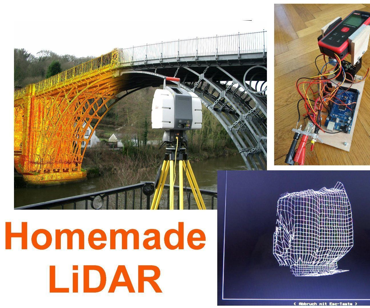 Simple LiDAR Using the Laser Rangefinder Uni-T UT390b