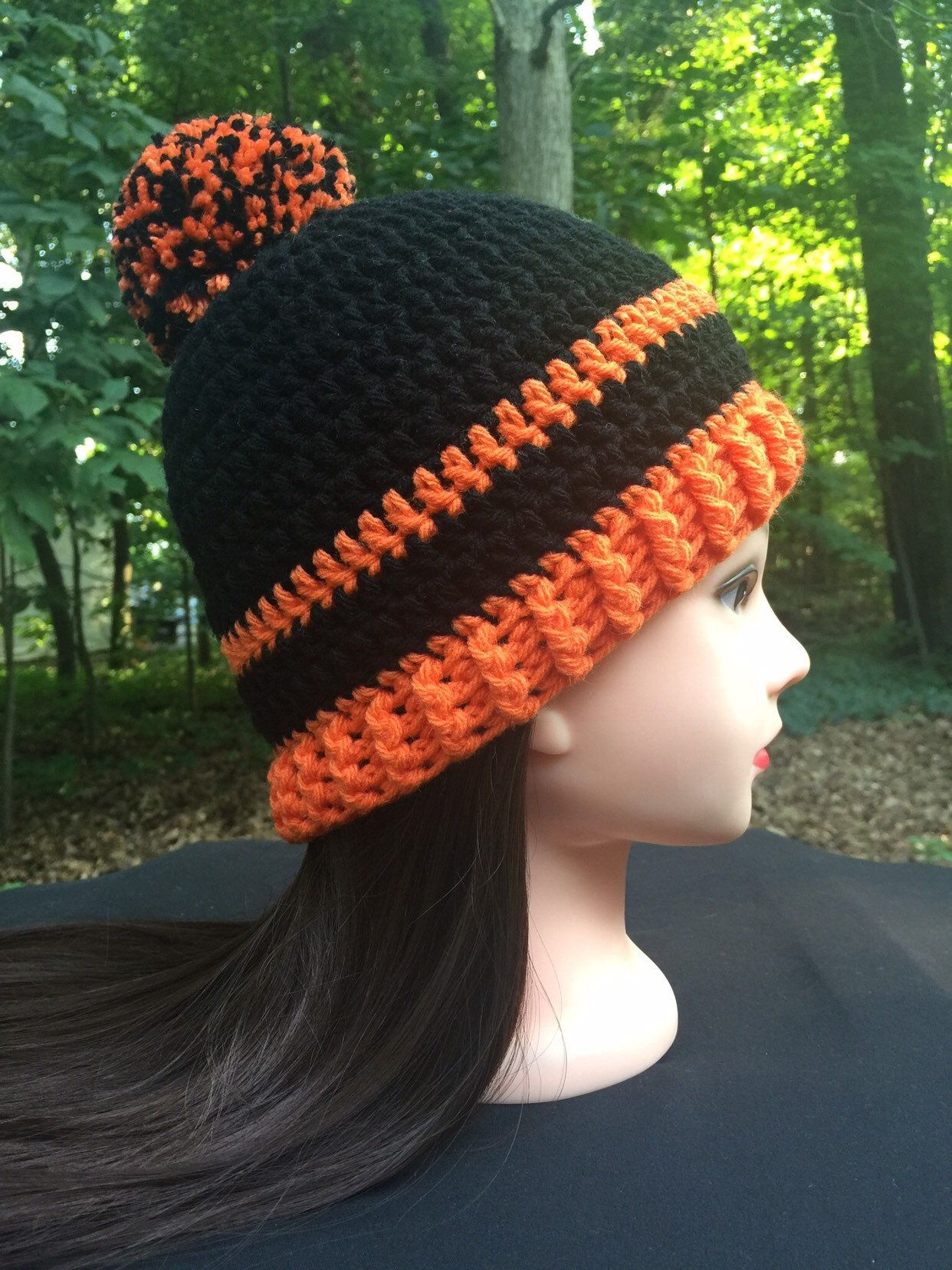 28bebf7dc05 Excited to share this item from my  etsy shop  ORIOLES FALL WINTER Pom Pom  Hat - Orange and Black Beanie - Show your Team Spirit