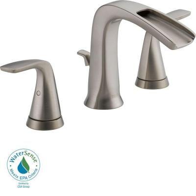 delta tolva 8 in widespread 2handle bathroom faucet in