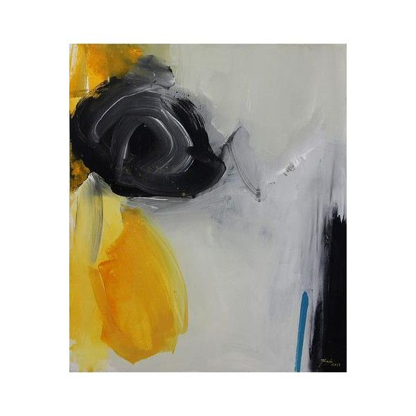 Novica signed abstract painting bali fine art 1 910 ron ❤ liked on polyvore featuring
