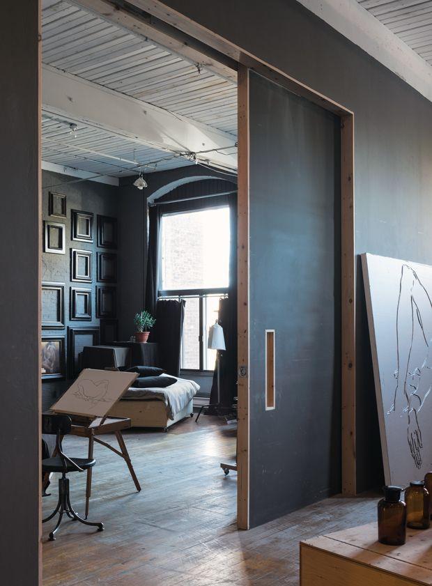photos un loft vintage industriel fait sur mesure interior office loft loft maison. Black Bedroom Furniture Sets. Home Design Ideas