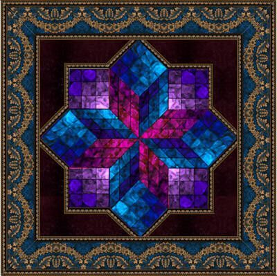 Image Result For 3d Patchwork Blocks Stained Glass Quilt