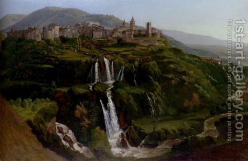 Gustaf Wilhelm Palm (1810-1890): The Cascades At Tivoli.