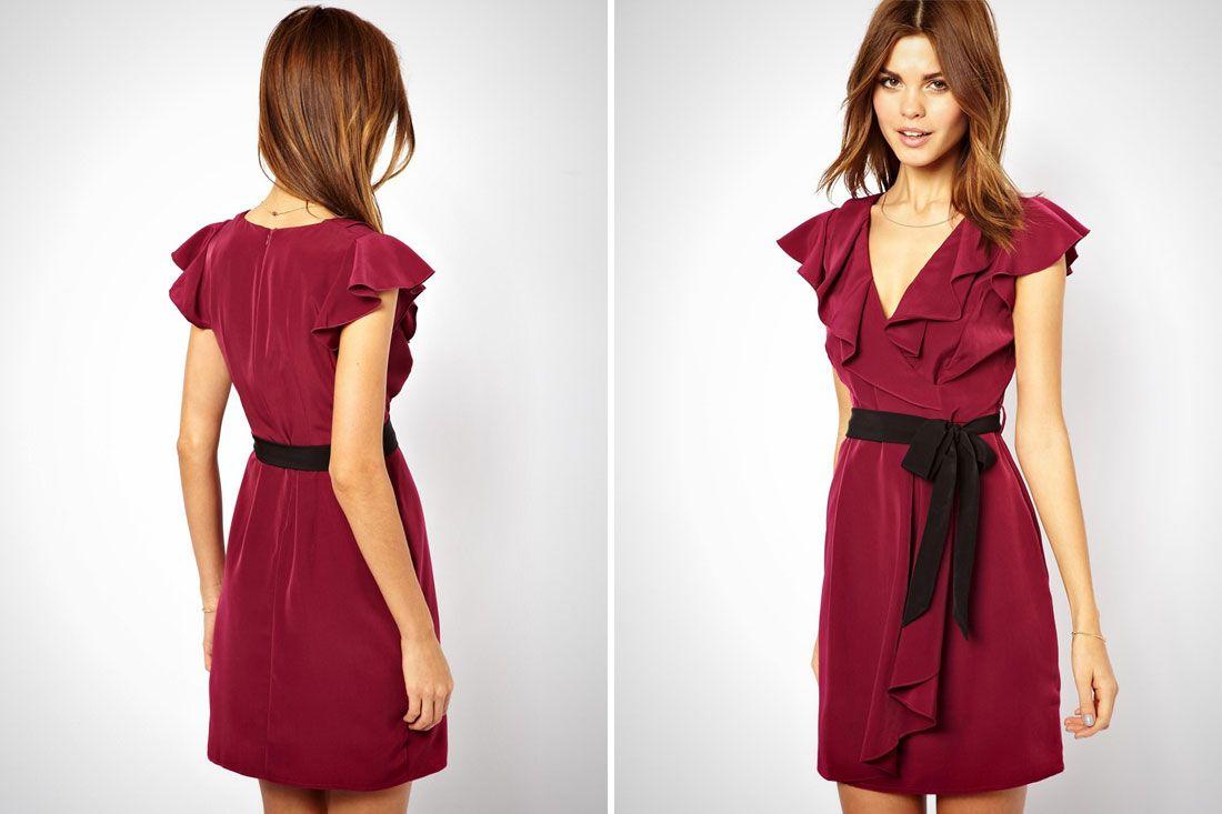 Wrap dress long sleeve pattern bella forte glass studio long