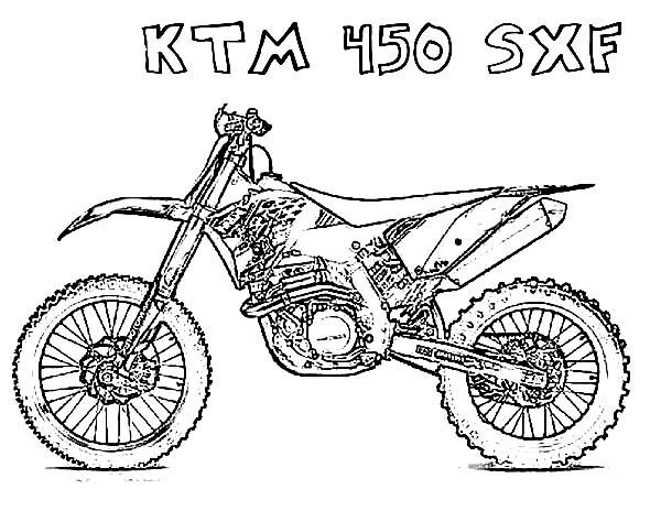 Dirt Bike Ktm 450 Sfx Coloring Page Coloring Sun In 2020 Coloring Pages Bear Coloring Pages Dog Coloring Page
