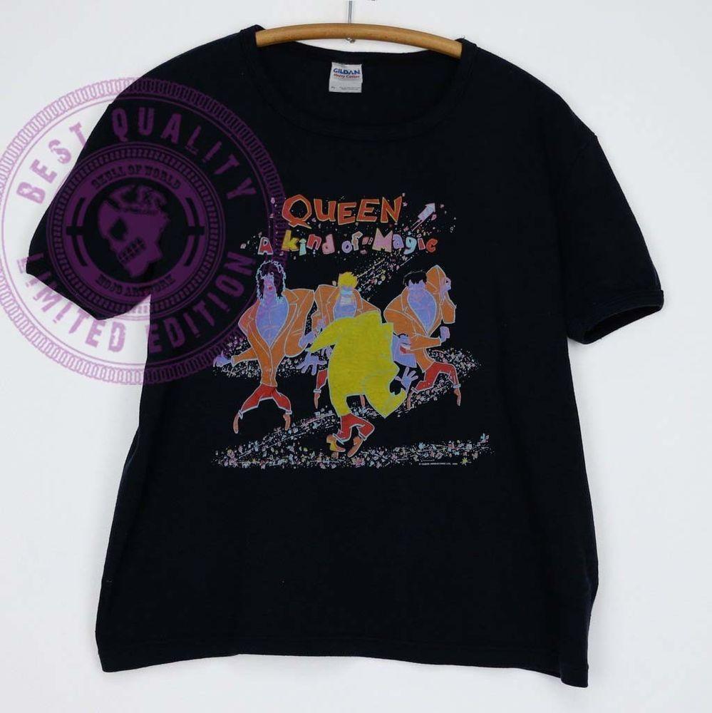 Extreamly Rare Reprint Queen Vintage Tshirt 1986 A Kind Of Magic Tshirt Gildan Fashion Clothing Shoes Accessories Mensclot T Shirt Great T Shirts Shirts