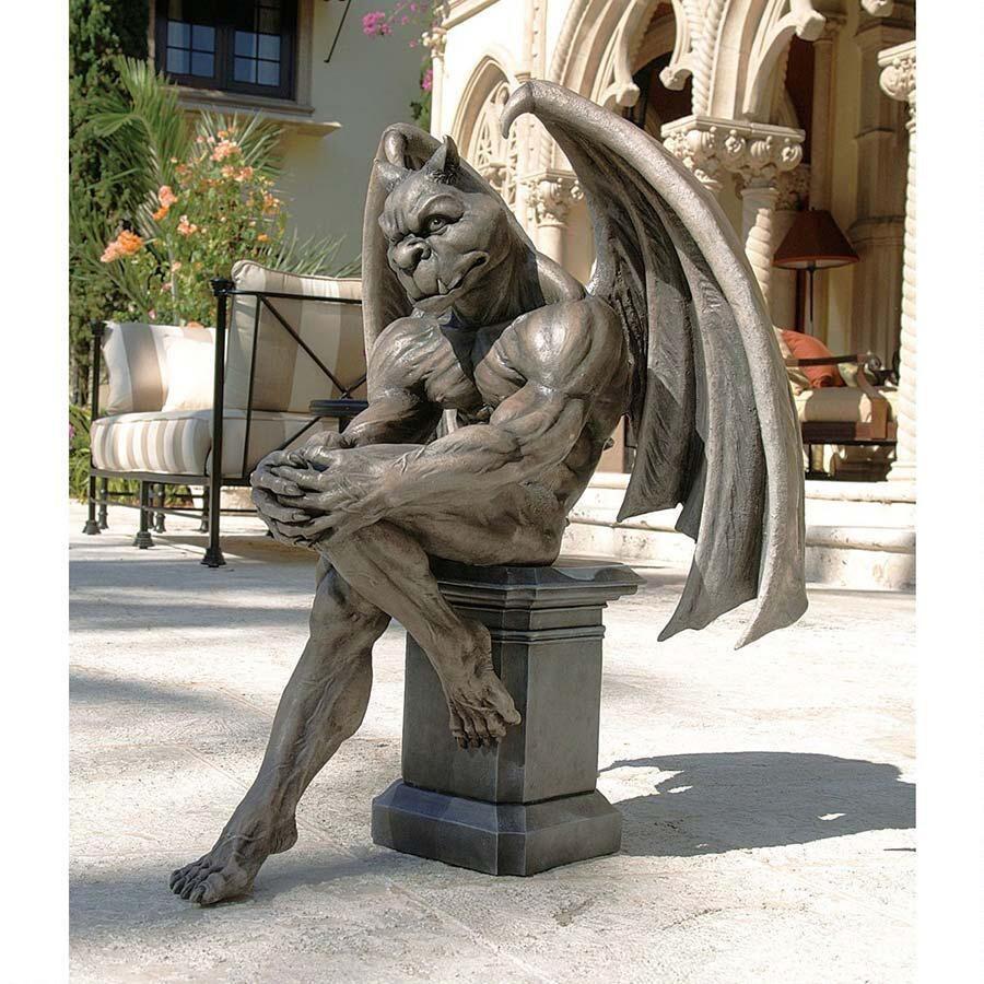 Outdoor decor statues - Garden Gargoyle Statues And Outdoor Decor