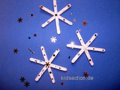Schneeflocke | Schnee | Pinterest | Schneeflocken, Basteln winter ...
