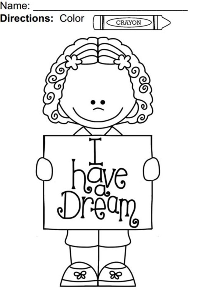 I Have A Dream Coloring Page DreamMartin Luther King