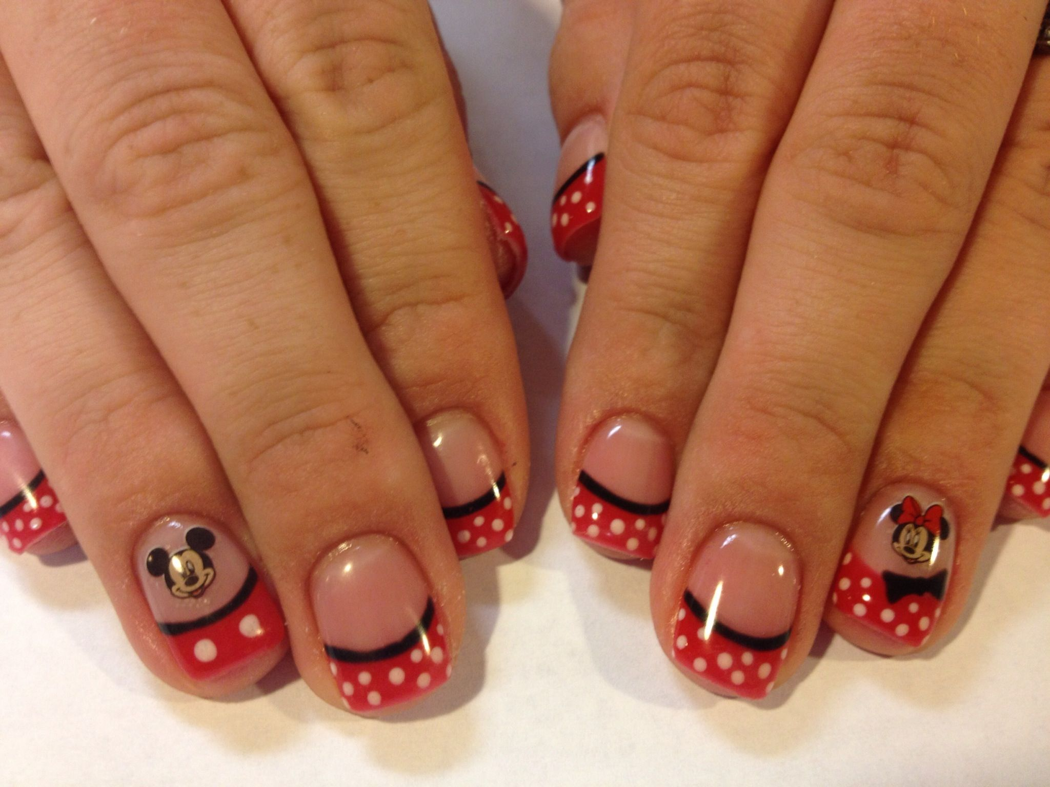 Mickey Mouse nails for Walt Disney World | Nails | Pinterest