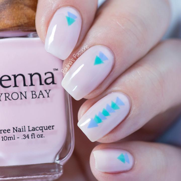 Sienna Byron Bay Simple Triangle Nail Art Nailtoe Colors