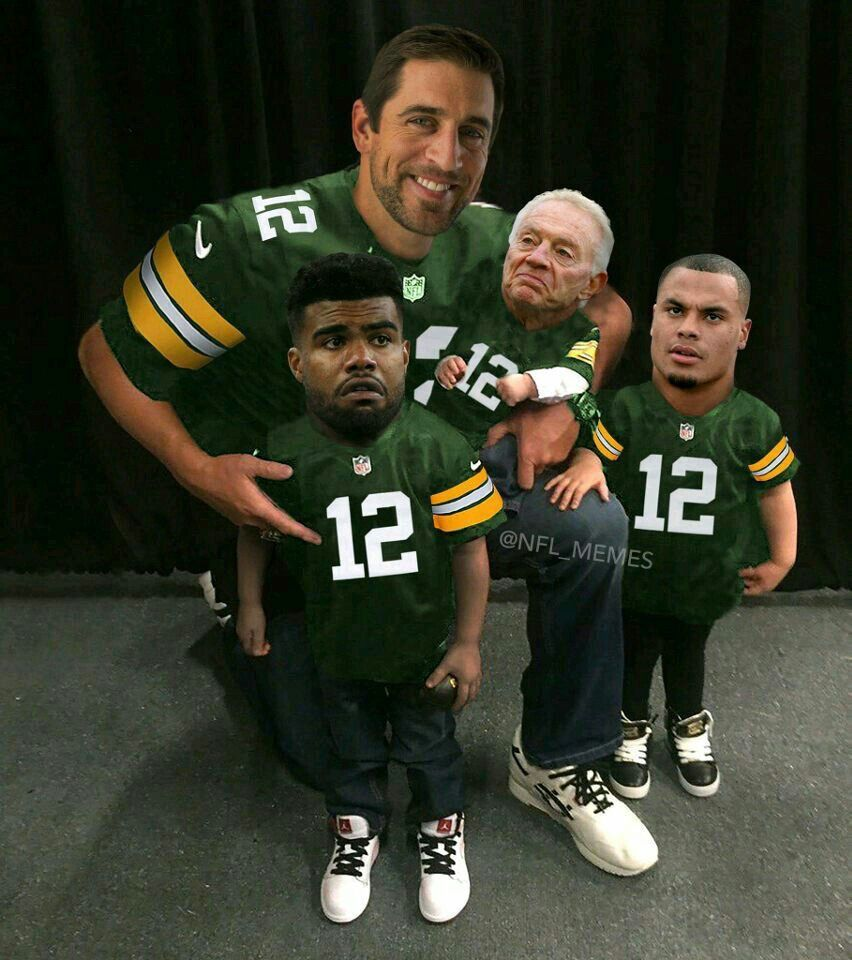 Arron Rogers Green Bay Packers And Baby Dallas Cowboys Nfl Memes Dallas Cowboys Memes Cowboys Memes