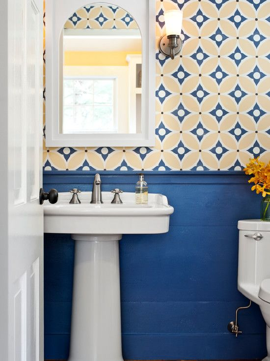 This Old House Bedford Elms Interior Design Powder Room With
