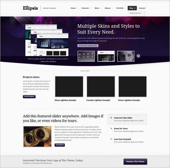19 php latest version website themes php programming new 3300 flexible corporate php template ellipsis is a flexible and powerful htmlcssphp website maxwellsz