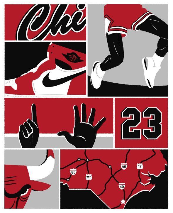 best sneakers 0b0a3 50e79 Jordan Chicago Bulls Art