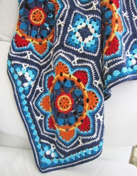 Stylecraft Persian Tiles Blanket Pattern (604)